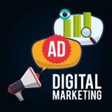 Social Advertising and Digital Marketing design. Social advertising concept with digital marketing design, vector illustration 10 eps graphic stock illustration