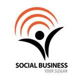 Social affärssymbolslogo Arkivbild
