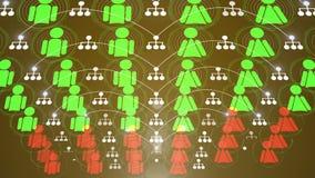 Social animering 4K för nätverksanslutning royaltyfri illustrationer