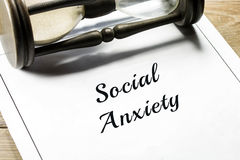 Social anxiety Stock Photography