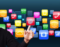 Social application icon Stock Photos