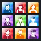 Social Avatar Icons Set Stock Photography