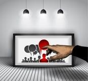 Social bakgrund för massmediaInfographic begrepp Arkivfoto