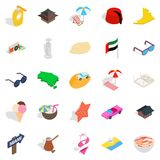 Social behavior icons set, isometric style Royalty Free Stock Photos