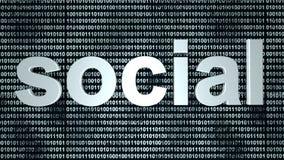 Social binär bakgrund Arkivfoton