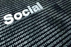 Social binary background Stock Image