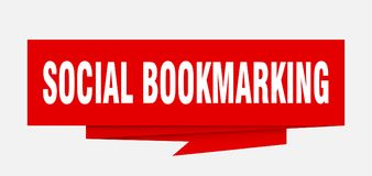 social bookmarking royaltyfri illustrationer