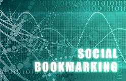Social Bookmarking. On a Digital Tech Background royalty free illustration