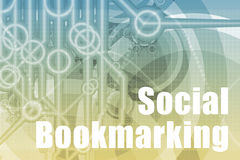 Social Bookmarking Abstract. Background in Blue Color royalty free illustration