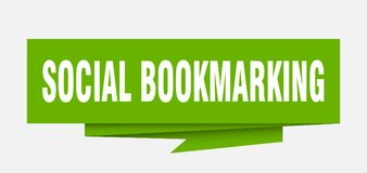Social bookmarking. Sign.  paper origami speech bubble.  tag.  banner vector illustration
