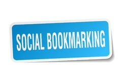 Social bookmarking sticker. Social bookmarking square sticker isolated on white background. social bookmarking stock illustration