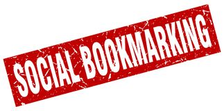social bookmarking stämpel stock illustrationer