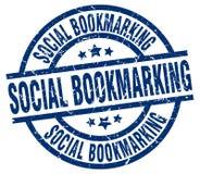 social bookmarking stämpel stock illustrationer