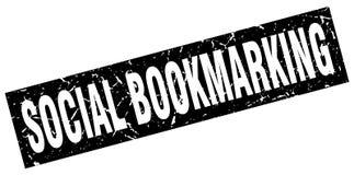 social bookmarking stämpel vektor illustrationer