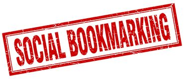 social bookmarking stämpel royaltyfri illustrationer