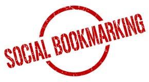 social bookmarking stämpel royaltyfri illustrationer