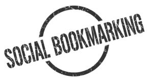 Social bookmarking stamp. Social bookmarking round grunge stamp. social bookmarking sign. social bookmarking royalty free illustration