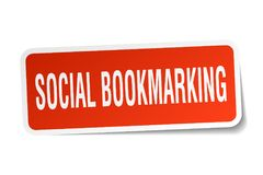 social bookmarking sticker vector illustration