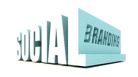 Social Branding. Social Media Product and Service Branding Stock Photography