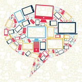 Social bubbla för anförande för nätverksgrejsymboler Royaltyfria Foton