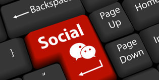 Social business concept Royalty Free Stock Photography