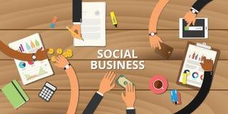 Social business entrepreneurship concept graph data. Money analyze Royalty Free Stock Photos
