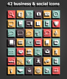Social and business icons set vector Royalty Free Stock Photo