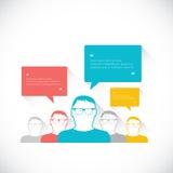 Social business media network vector illustration speech bubbles Royalty Free Stock Photography