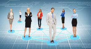 Social or business network Stock Images