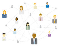 Social / Business network connecting Stock Images
