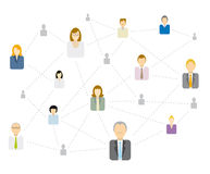 Social / Business network connecting Royalty Free Stock Image