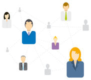 Social / Business network connecting Stock Image