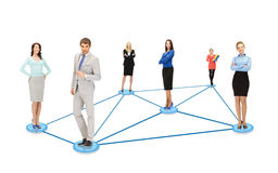 Social or business network Royalty Free Stock Photos