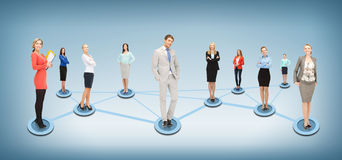 Social or business network. Business and networking concept - social or business network Stock Images