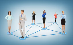 Social or business network stock photography