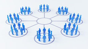Social Business Network Stock Photo