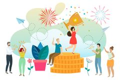 Social and business situations royalty free illustration