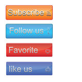 Social buttons Royalty Free Stock Images