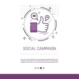 Social Campaign Management Business Content Information Web Banner With Copy Space Stock Image