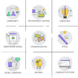 Social Campaign New Idea Development Business Funding Strategy Icon Stock Photos