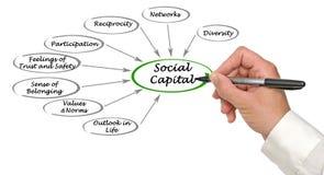 Social Capital. Presenting Diagram of Social Capital royalty free stock image