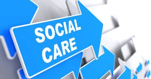 Social Care. royalty free illustration