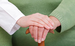Social care. How to give the best care in elderly homes Royalty Free Stock Images
