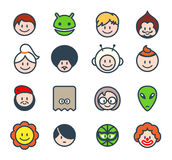 Social characters Royalty Free Stock Images
