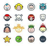 Social characters II. Characters for social networks or forum avatars II Royalty Free Stock Photo