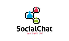 Social Chat Logo. Minimalist and modern chat logo template. Simple work and adjusted to suit your needs Stock Photos