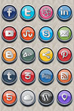 20 social classic icon v2.0. Package include 20 (twenty) of most used social icons in websites.Vector images are in eps 10 format, which make them usable for stock illustration