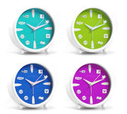 Social clocks Royalty Free Stock Photos