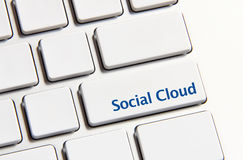 Social cloud button Stock Photo