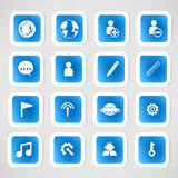 Social color Media Circles Icon Stock Image